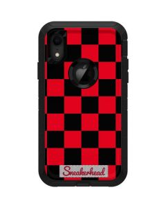 Sneakerhead Red Checkered Otterbox Defender iPhone Skin