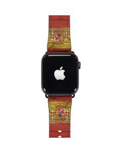 Spain Flag Dark Wood Apple Watch Case