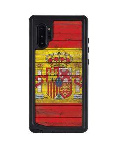 Spain Flag Dark Wood Galaxy Note 10 Plus Waterproof Case