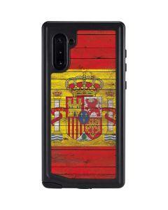 Spain Flag Dark Wood Galaxy Note 10 Waterproof Case