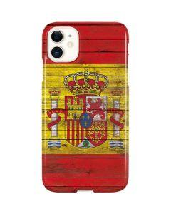 Spain Flag Dark Wood iPhone 11 Lite Case
