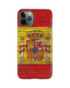 Spain Flag Dark Wood iPhone 11 Pro Lite Case
