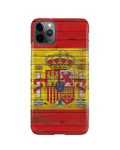 Spain Flag Dark Wood iPhone 11 Pro Max Lite Case