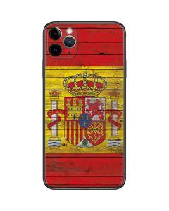 Spain Flag Dark Wood iPhone 11 Pro Max Skin