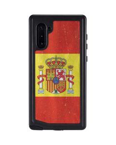 Spain Flag Distressed Galaxy Note 10 Waterproof Case