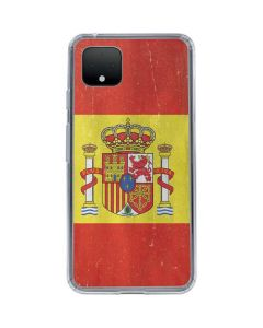 Spain Flag Distressed Google Pixel 4 Clear Case