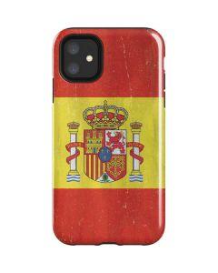 Spain Flag Distressed iPhone 11 Impact Case