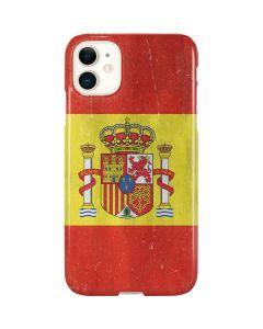 Spain Flag Distressed iPhone 11 Lite Case