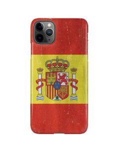 Spain Flag Distressed iPhone 11 Pro Max Lite Case