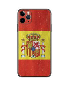 Spain Flag Distressed iPhone 11 Pro Max Skin