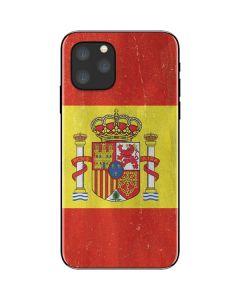 Spain Flag Distressed iPhone 11 Pro Skin