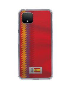Spain Soccer Flag Google Pixel 4 Clear Case