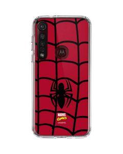 Spider-Man Chest Logo Moto G8 Plus Clear Case