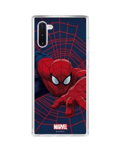 Spider-Man Crawls Galaxy Note 10 Clear Case