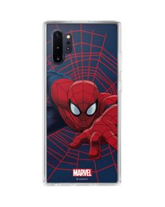 Spider-Man Crawls Galaxy Note 10 Plus Clear Case
