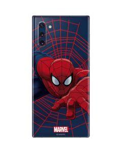 Spider-Man Crawls Galaxy Note 10 Skin