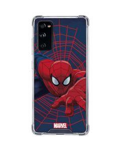 Spider-Man Crawls Galaxy S20 FE Clear Case