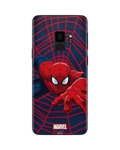 Spider-Man Crawls Galaxy S9 Skin