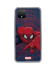 Spider-Man Crawls Google Pixel 4 XL Clear Case