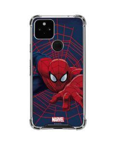 Spider-Man Crawls Google Pixel 4a 5G Clear Case