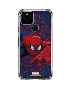 Spider-Man Crawls Google Pixel 5 Clear Case