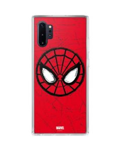 Spider-Man Face Galaxy Note 10 Plus Clear Case