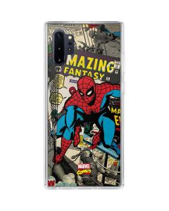 Spider-Man Vintage Comic Galaxy Note 10 Plus Clear Case