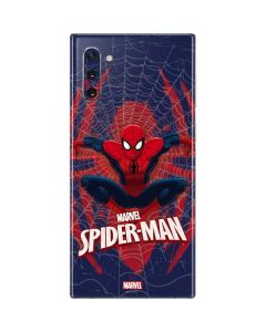 Spider-Man Web Galaxy Note 10 Skin