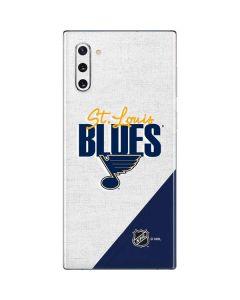 St. Louis Blues Script Galaxy Note 10 Skin