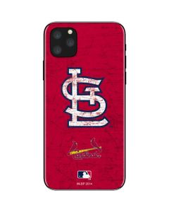 St. Louis Cardinals - Solid Distressed iPhone 11 Pro Max Skin