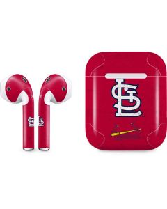 St. Louis Cardinals - Solid Distressed Apple AirPods 2 Skin