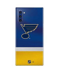 St. Louis Blues Jersey Galaxy Note 10 Skin