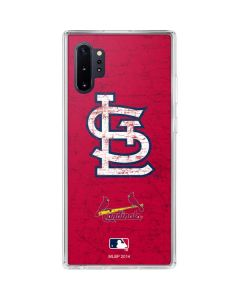 St. Louis Cardinals - Solid Distressed Galaxy Note 10 Plus Clear Case
