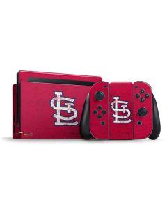 St. Louis Cardinals - Solid Distressed Nintendo Switch Bundle Skin