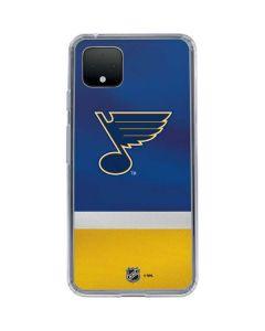 St. Louis Blues Jersey Google Pixel 4 Clear Case
