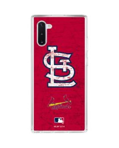 St. Louis Cardinals - Solid Distressed Galaxy Note 10 Clear Case