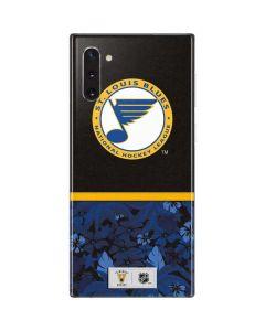 St. Louis Blues Retro Tropical Print Galaxy Note 10 Skin