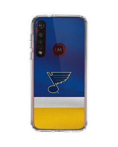 St. Louis Blues Jersey Moto G8 Plus Clear Case