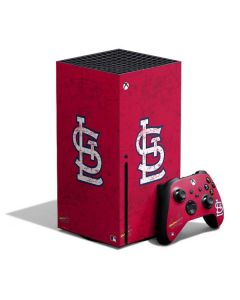 St. Louis Cardinals - Solid Distressed Xbox Series X Bundle Skin