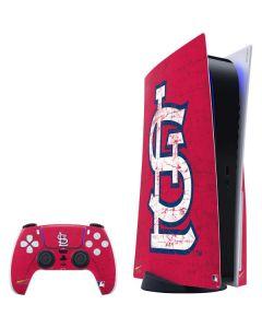 St. Louis Cardinals - Solid Distressed PS5 Bundle Skin