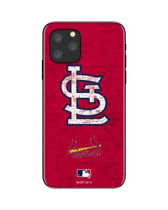 St. Louis Cardinals - Solid Distressed iPhone 11 Pro Skin
