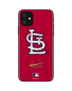 St. Louis Cardinals - Solid Distressed iPhone 11 Skin