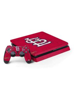 St. Louis Cardinals - Solid Distressed PS4 Slim Bundle Skin