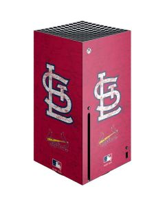 St. Louis Cardinals - Solid Distressed Xbox Series X Console Skin
