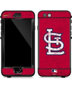 St. Louis Cardinals - Solid Distressed LifeProof Nuud iPhone Skin