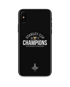 Stanley Cup Champions Pittsburgh Penguins iPhone XS Skin