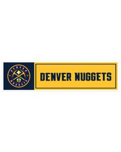 "NBA Denver Nuggets 11"" x 3"" Bumper Sticker"