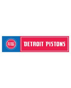 "NBA Detroit Pistons 11"" x 3"" Bumper Sticker"