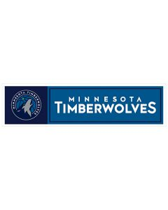"NBA Minnesota Timberwolves 11"" x 3"" Bumper Sticker"