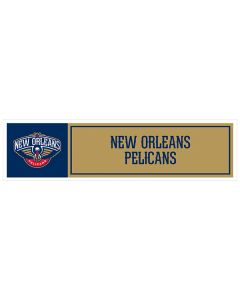 "NBA New Orleans Pelicans 11"" x 3"" Bumper Sticker"